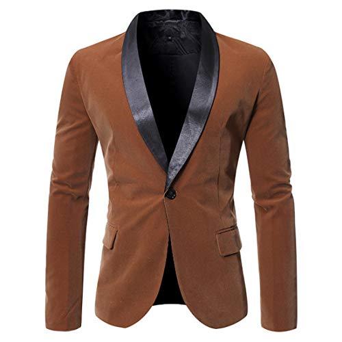 Herren Sakko Blazer Slim Fit Modern Anzugjacke Einfarbig Modern Sakko Hochzeit Party Abschluss Business Blazer mit Einem Knopf Büro Formale Klassisch Blazer Jacke XL