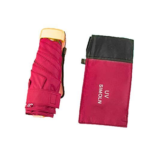 Kleine miniparaplu, draagbare parasol, zonneschermen voor buitenzon, automatisch reizen, winddicht, lichtgewicht opvouwbaar