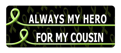 Set of 3 - I WEAR Lime Green for My Cousin Cancer Awareness Sticker Graphic - Decal Sticker