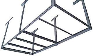 "bigbear iron 48""x96"" Heavy Duty Garage Storage Ceiling Rack Length&Height Adjustable /6 Legs Weight Limited 1000 lbs"