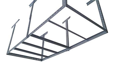 bigbear iron 48'x96' Heavy Duty Garage Storage Ceiling Rack Length&Height Adjustable /6 Legs Weight Limited 1000 lbs