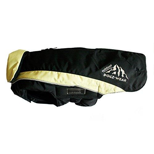 Wolters | Skijacke Dogz Wear wasserdichtem RV schwarz/lime | Rückenlänge 65 cm