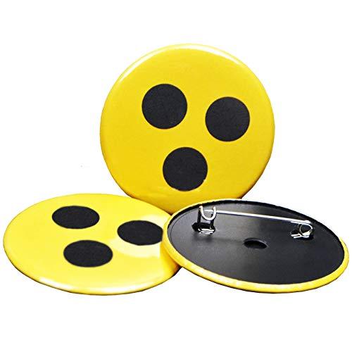 PazCaz 3 Hochwertige Blindenanstecker Abzeichen für Blinde und Sehbehinderte Blindenplakette
