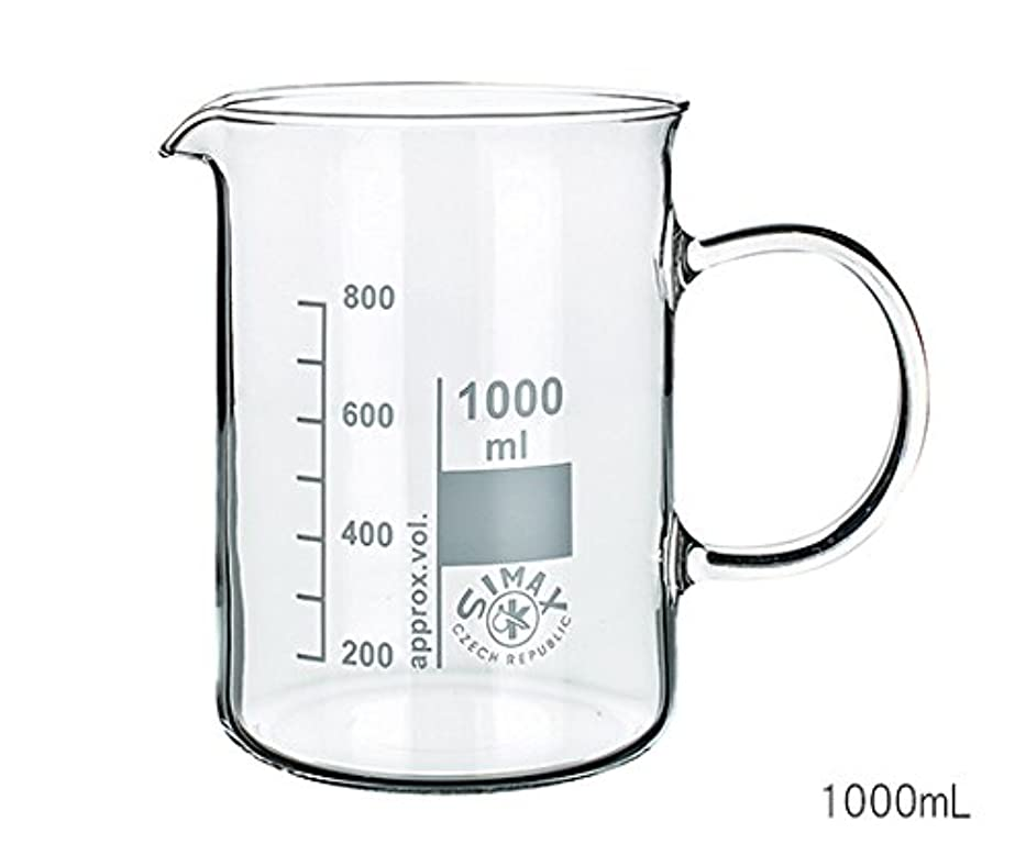 インク唯物論ホイールサイマックス(Simax) ガラス手付ビーカー 400mL /3-6008-02
