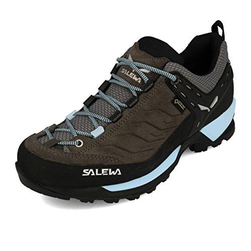Salewa MS Mountain Trainer Mid Gore-TEX, Chaussures de Randonnée Hautes Homme, Noir (Black/Sulphur Spring), 40.5 EU