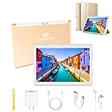 4G Tablette Tactile 10 Pouces, Android 9.0 3Go RAM 32Go ROM , 8500mAh Quad Core 8MP Caméra Tablette Enfant éducatifs Préinstallé , Double SIM Google Play Bluetooth/OTG/GPS, for Enfants & Adultes (Or)