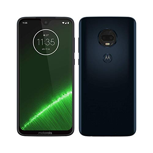 Moto G7 Plus, 4G LTE, 64GB/4GB RAM, Pantalla 6.2″ Full HD, Android Pie, Desbloqueado de fábrica (Deep…