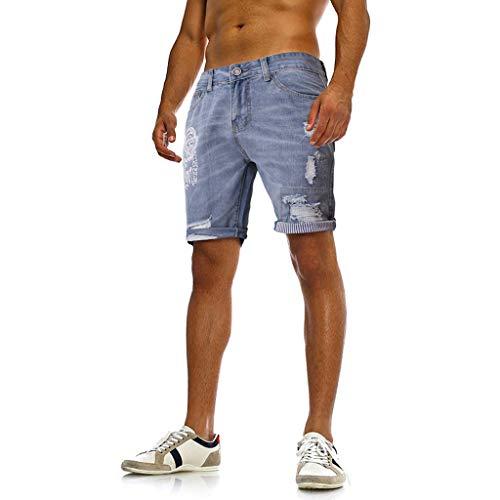FRAUIT dunne jeans short voor de zomermode voor heren gat stretch casual print slim denim shorts korte broek basic zwart blauw mode prachtig design streetwear stretch zacht comfortabel