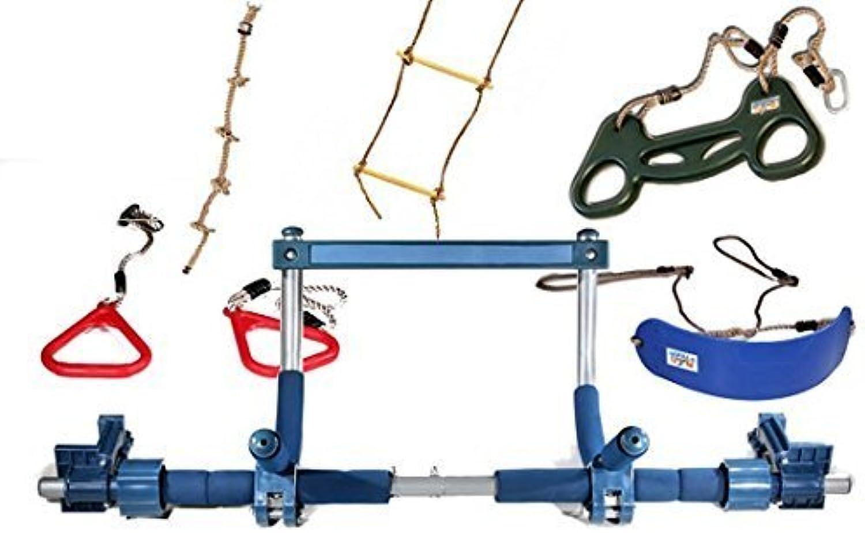 Gorilla Gym Kids Indoor Swing, Plastic Rings, Trapeze Bar, Climbing Ladder Swinging Rope