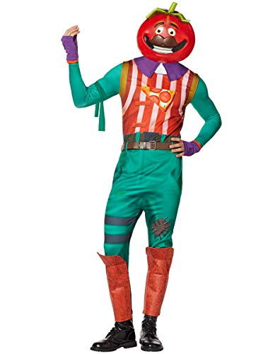 Spirit Halloween Adult TomatoHead Fortnite Costume   Officially Licensed - M