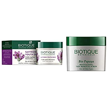 Biotique Bio Saffron Dew Youthful Nourishing Day Cream for All Skin Types, 50g