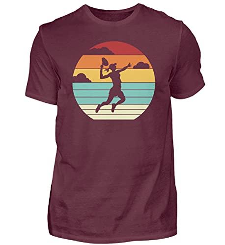 Padel Padel Padel Padel-Tennis | 01082 - Camiseta para hombre granate XL