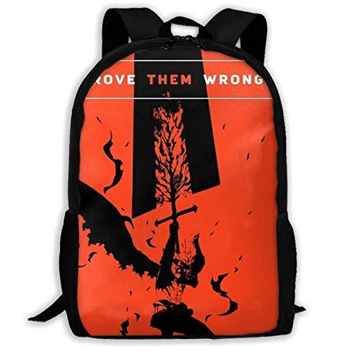 Hdadwy Anime Schwarzklee Asta Bla Klee Zitat Gobelin Rucksack Umhängetasche Reisetaschen Laptoptasche Schultasche Für Jungen Mädchen