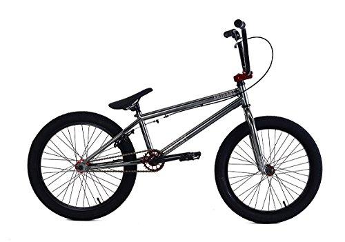 Academy - Bicicletta BMX Entrant BMX, 20', grigio/rosso
