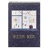 Mostore Kind Skizzenbuch A4 mit Spiralbindung 50 Blatt mit 110g Sketch-Papier Zeichenblock mit Kraft...