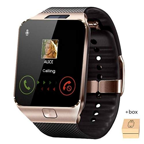 YourWareHouses Bluetooth Smart Watch Mens Sports Smartwatch DZ09 Android Phone Call Relogio 2G GSM SIM TF Card Camera for Phone PK GT08 A1 (Rose Gold)