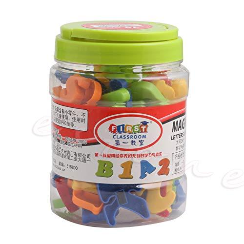 SimpleLife Mixed Toys, 78-teiliges magnetisches Alphabet mit Buchstaben und Zahlen ABC-Lernspielzeug für Kinder Vorschulerziehung Speclling & Counting