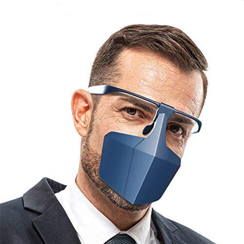 Kayla-lan Neue Face Shield Splatter-Bildschirme für Wiederverwendbare tragbare Brillen im Büroküchen-Supermarkt (Blau)