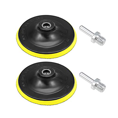 sourcing map 6' Hook and Loop Backing Pad Sanding Polishing Backer Plate with M14 Drill Adapter for Random Orbit Sander Polisher Buffer 2pcs