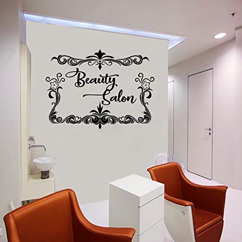 Tianpengyuanshuai muurstickers voor salon, schoonheidssalon, kapsel, decoratie voor woonkamer, glas, vinyl, glas, afneembaar, wanddecoratie