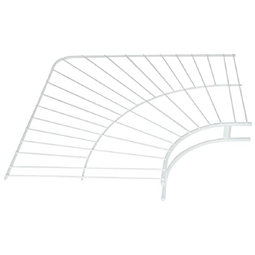 Rubbermaid Wire Shelving, Wardrobe, White, 12-inch Corner (FG3G30LWWHT)