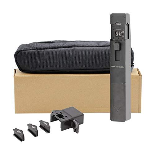 MachinYeser Identificador de fibra óptica 800-1700nm Cable vivo Detector óptico Herramienta de prueba de identificación 270Hz / 1KHz / 2KHz TM301 (color: negro)