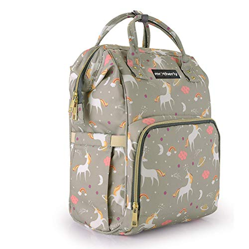 Motherly Baby Diaper Bag, Mothers Maternity Bags for Travel (Unicorn Gray)