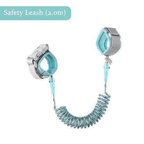 Etravel – Cinturón anti pérdida, cierre de seguridad, 1,5 m, correa de bebé, suave algodón y material de poliuretano, para niños verde 2,0 m, color verde.