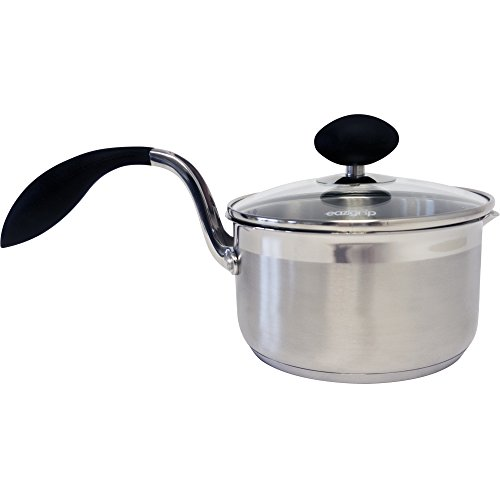 Eazigrip 1.5-Qt. Stainless Steel Non Stick Covered Saucepan with Lid