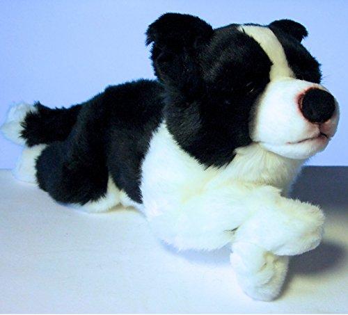 Border Collie liegend 45 cm Hund Kuscheltier Schmusetier Plüschtier von Leosco