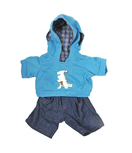 """DINOSAURIER HOODIE UND JEANS Teddybär Outfit / Bekleidung. Passend für 8"""" 20cm Build-A-Bear-Workshop - Teddybären zum Selbermachen"""