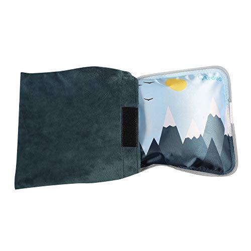 Ardes ARAM076 Scaldino Sole Mio Soft A Forma Di Cuscinotto Con Custodia In Morbido Pile Blue, Caldo Per 6 Ore, Fantasia Montagne