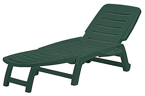 Grandsoleil S6805V Boheme Greenpol - Sedia a sdraio, 147 x 64 x 89 cm, colore: Verde