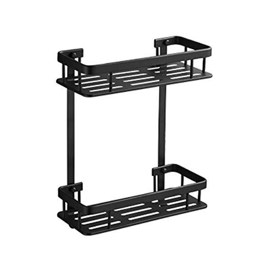 Geperforeerde gratis badkamer plank aan de muur gemonteerde badkamer opslag rack zwart wc wastafel