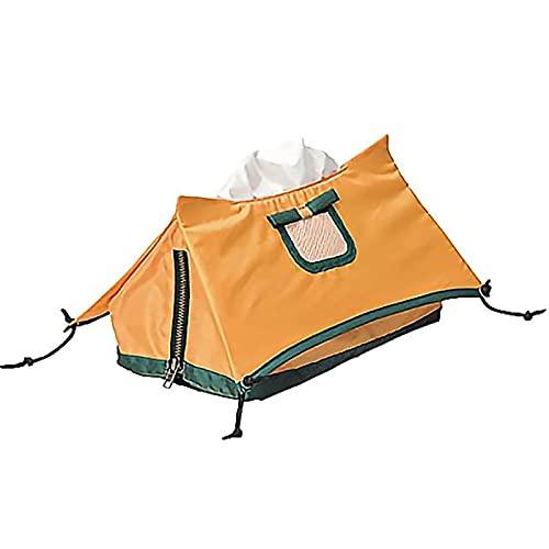 EHGF Minizelt-Gewebekasten, Polyesterfasermaterial, einzigartige Form, geeignet für Wohnzimmer/Picknick/Camping usw. Mini Tent Tissue Box