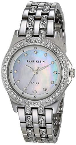 Anne Klein Considered Women's Solar Powered Swarovski Crystal Accented Bracelet Watch
