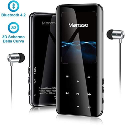 16GB Reproductor MP3 2.4' 3D Curva Pantalla Reproductor de Música Bluetooth FM...