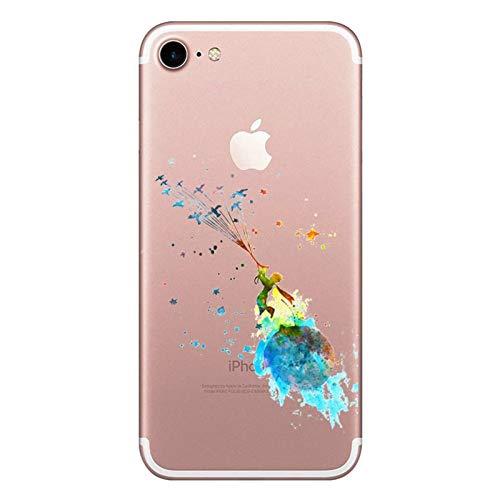 Oihxse Compatibile per [iPhone 7/8 Cover ] [iPhone SE 2020] Sottile Leggera Silicone Trasparente Anti Scivolo Graffi Morbido TPU Design Creativo Cover iPhone 7 iPhone 8 iPhone SE-4.7-Little Prince