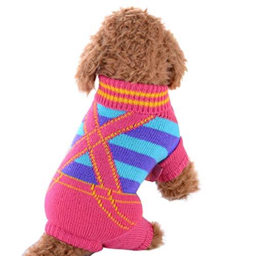 Niedlich Hundebekleidung,TWBB Haustier Hunde Sweater Openwork Pullover Hund Kleidung Winter Warme Jacke Hunde Bekleidung Jumper für Kleine Hunde Pullover für Winter Herbst
