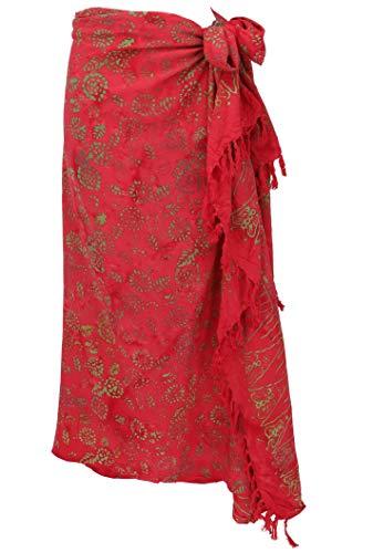 GURU SHOP Bali Batik Sarong, Wandbehang, Wickelrock, Sarongkleid, Strand Tuch, Herren/Damen, Design 41, Synthetisch, Size:One Size, 160x100 cm, Sarongs, Strandtücher Alternative Bekleidung