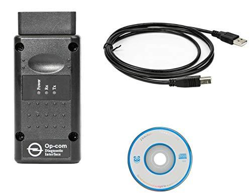 HaoYiShang Herramienta de diagnóstico Auto del Coche de OP-COM OPCOM 2010V Puede el Explorador del Interfaz del USB OBD2 -Support Below 2014 Cars (V1.99 Firmware)