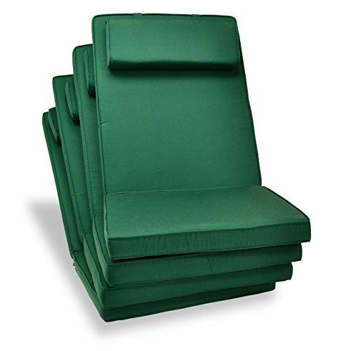 Set Cuscini sedia da giardino con schienale alto sedia da campeggio pieghevole di alta qualità, 4 pezzi
