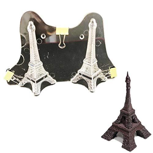 2 Stück 3D Der Eiffelturm DIY 3D Plastik Backform Modellierwerkzeug Backen Werkzeuge für Schokoladen Gelee Bonbons Candy Süßigkeiten