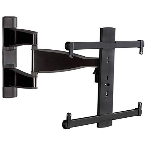 "Sanus Premium Full Motion TV Wall Mount for 32"" - 55"" TVs - Brushed Black Finish with FluidMotion Design for Smooth Extension, Tilt, Swivel - Low Profile TV Bracket Plus Easy 3 Step Install"