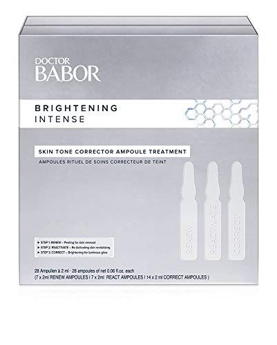 DOCTOR BABOR Skin Tone Corrector Ampoule Treatment, 28 Tage Intensiv Ampullen-Kur zur Reduzierung von Pigmenten, zur Aufhellung der Haut, 28 x 2 ml