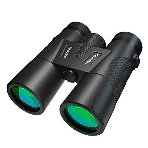 12×42 Binoculars for Adults and Kids with Night Vision, Compact Folding Binoculars for bird watching Outdoor Hiking,Shooting and Sports Games (12×42)