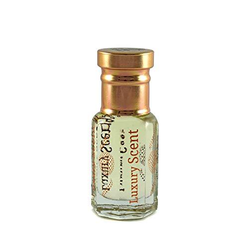 Lujosa botella de aceite de perfume de piel azul de 6 ml con aroma a attar unisex de alta calidad