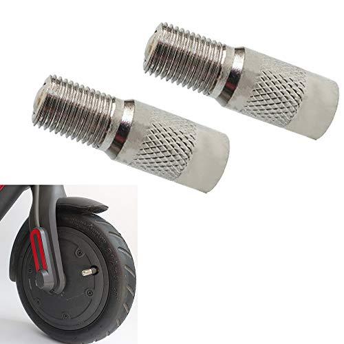 HYGJ Linghuang Reifenventile für Scooter für Xiaomi M365/1S/PRO/PRO2 Adapter Verlängerung für Rollerventil, Luftpumpe fest automatisch (2 Stück)