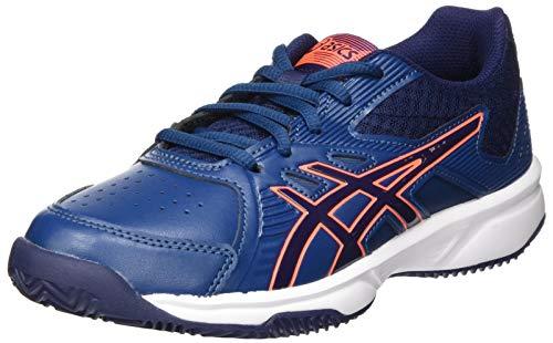 Asics Court Slide Clay GS, Zapato de Tenis Unisex Adulto, Mako Blue/Peacoat, 40 EU
