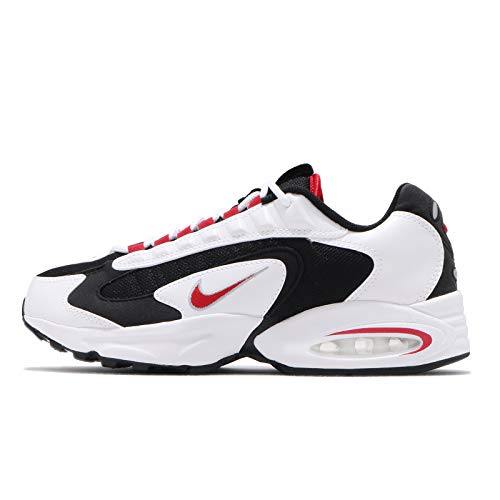 Nike Air Max Traix Hommes Running Trainers CD2053 Sneakers Chaussures (UK 9.5 US 10.5 EU 44.5, White University Red Black 105)
